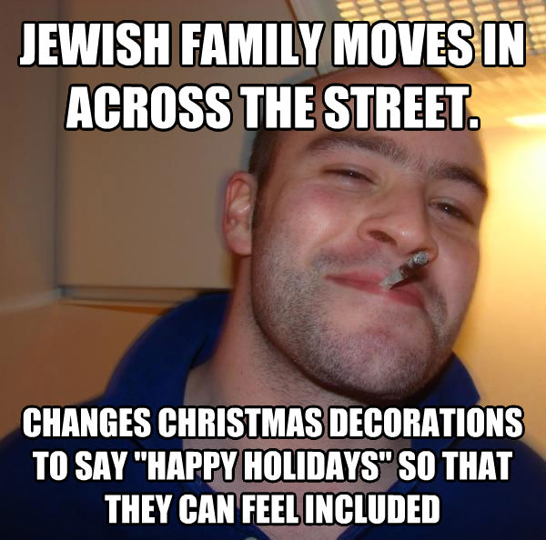 Good Guy Greg Jewish Family Moves In Across The Street Changes Christmas Decorations To Say