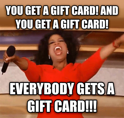 Image result for gift card meme