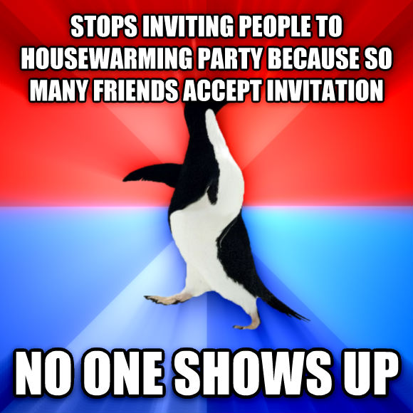 Livememecom Socially Awesome Awkward Penguin